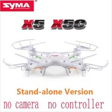 Free Shipping Syma X5C Explorers 2.4G 4CH 6-Axis Gyro RC Quadcopter With RTF only Helicopter without controller no camera(China (Mainland))