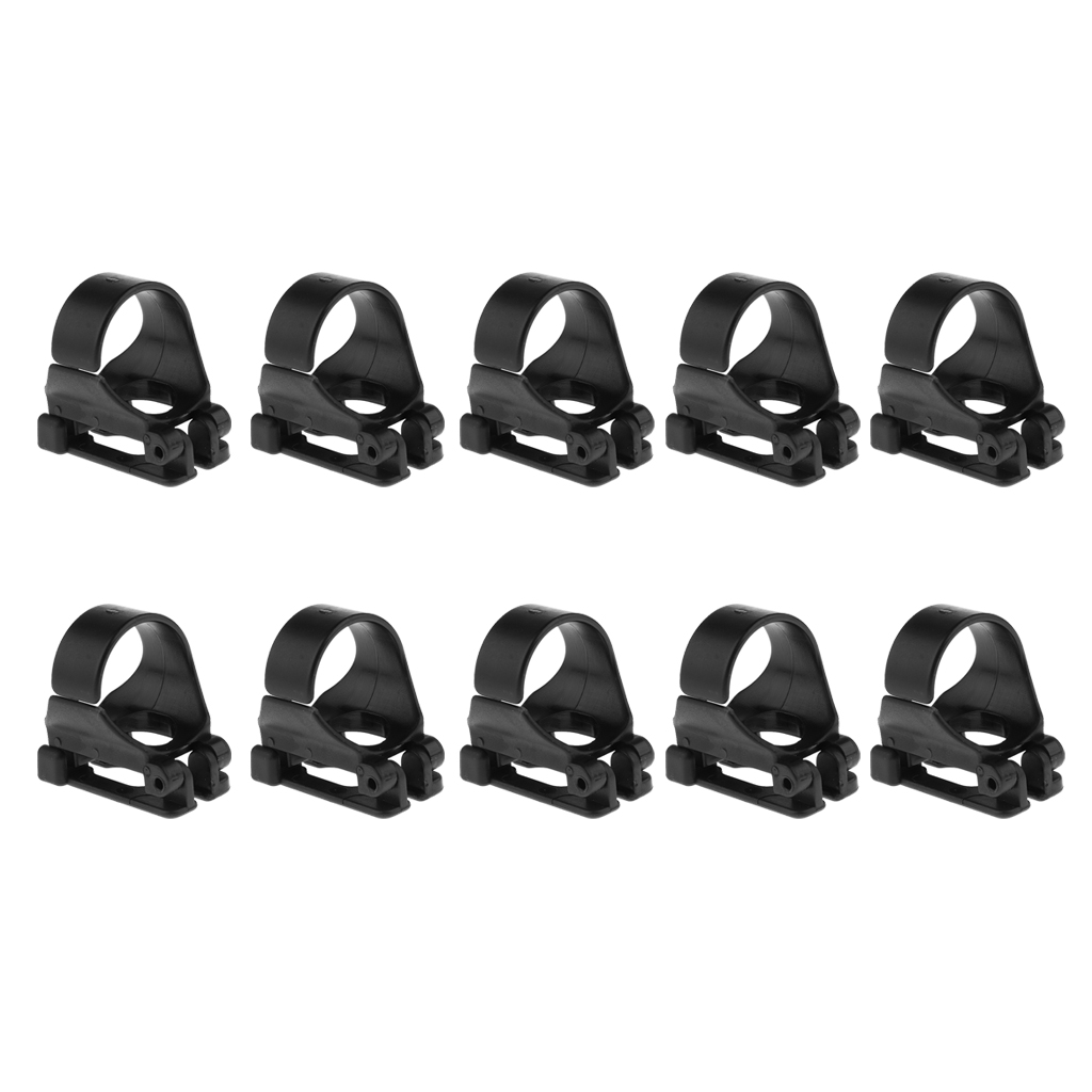 10Pcs Snorkel Keeper Scuba Diving Snorkeling Breathing Tube Holder Retainer Clip Spare Parts For Attaching Dive Goggles Mask