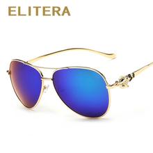 Buy ELITERA Luxury diamond metal Fox shape sunglasses women brand designer Aviation glasses Vintage mirror coating sun glasses for $6.59 in AliExpress store