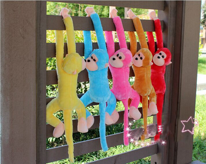 1 peice per set Hilarious Gibbon hanging plush dolls funny toys for kids decent present gift for children Freeshipping(China (Mainland))