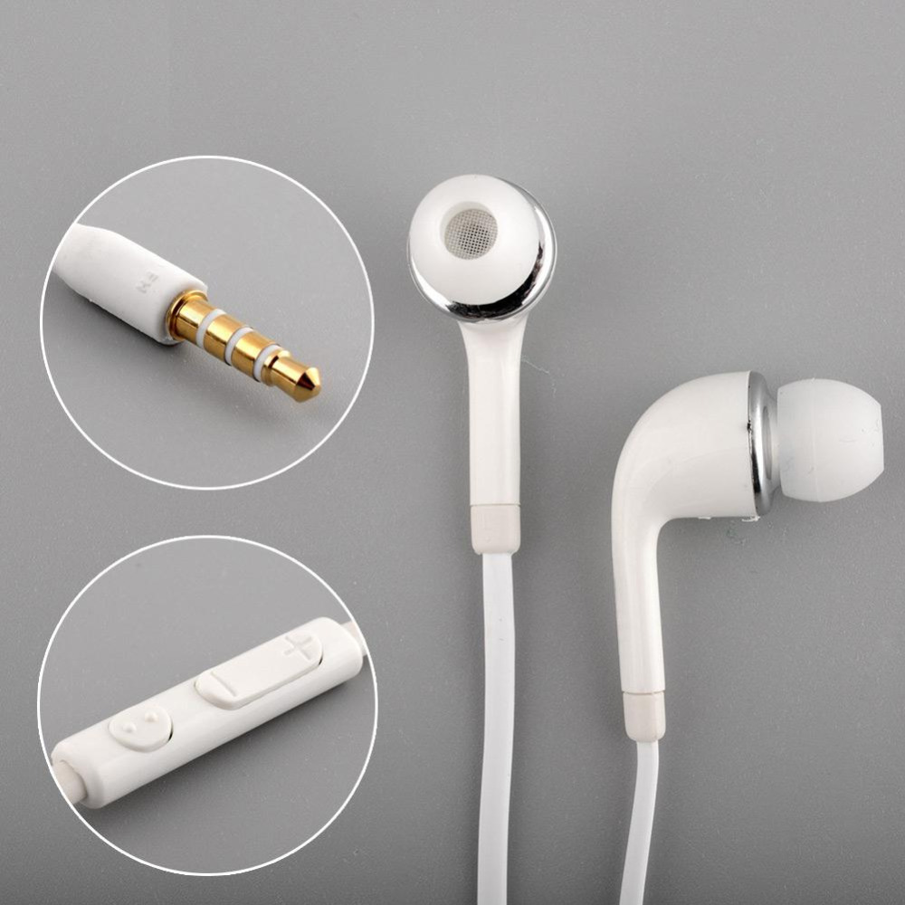 White Handsfree Headset In Ear Earphones For SAMSUNG GALAXY S4 With Remote With MIC Hot Sale(China (Mainland))