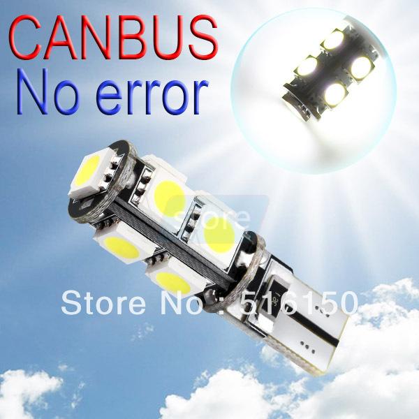 Источник света для авто SD 10 T10 9 SMD CANBUS OBC W5W 9 194/501 carprie super drop ship new 2 x canbus error free white t10 5 smd 5050 w5w 194 16 interior led bulbs mar713