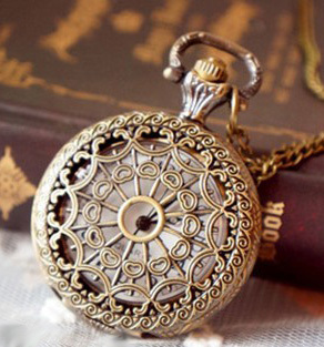 Coupon for wholesale buyer price good quality fashion lady girl woman bronze church roof antique pocket watch necklace chain