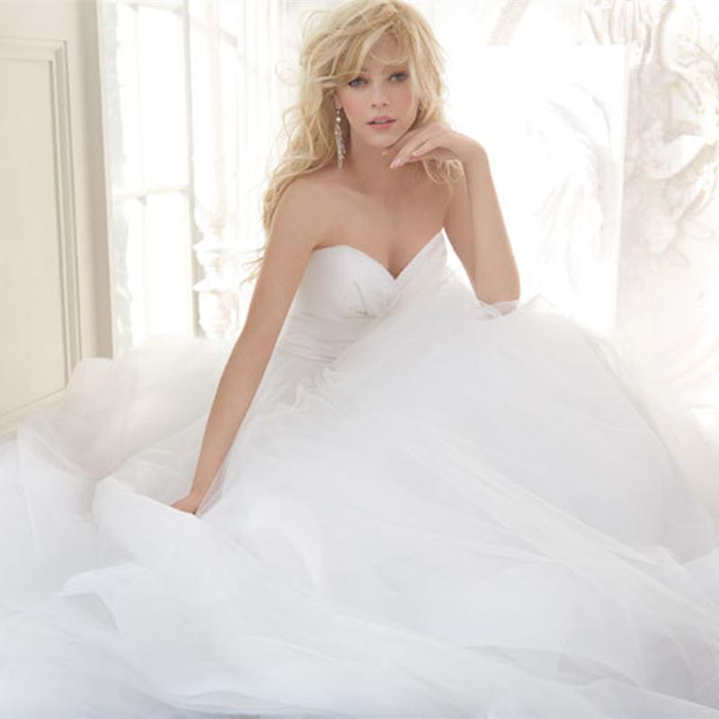 2015 nova branco ou marfim Sexy A linha de tafetá Organza vestido de noiva vestido de noiva tamanho feito sob encomenda frete grátis