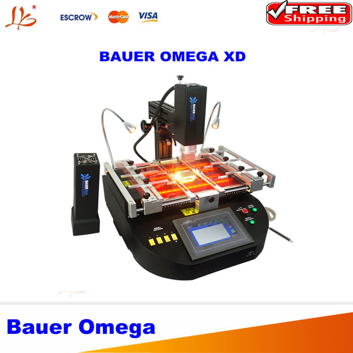 Global FreeShipping Best quality BAUER OMEGA XD Hot Air And IR 2 In 1 BGA Rework Station, ELSTEIN Heating Plate And German Glass(China (Mainland))