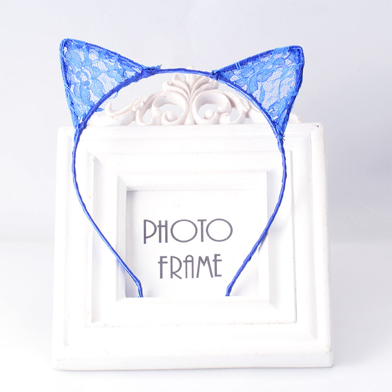 Hot Sale Summer Hair Hoop Lace Cute Cat Ear Hairband Cosplay Fancy Dress Costume Masquerade Headband Style Hair Band Accessories(China (Mainland))