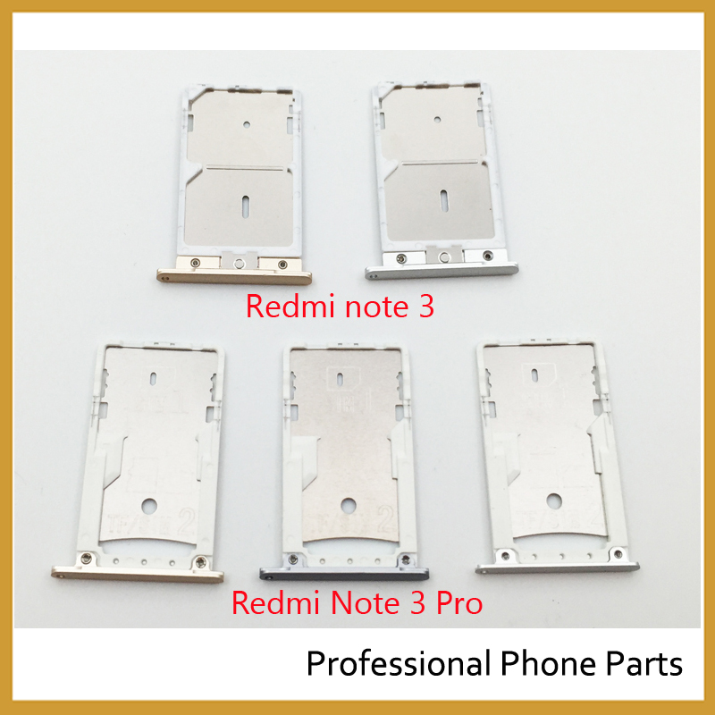 Original SIM Card Tray Slot Holder Adapter For Xiaomi Redmi Note 3 & Note 3 Pro Phone Parts Replacement ,Gray Sliver Gold Color