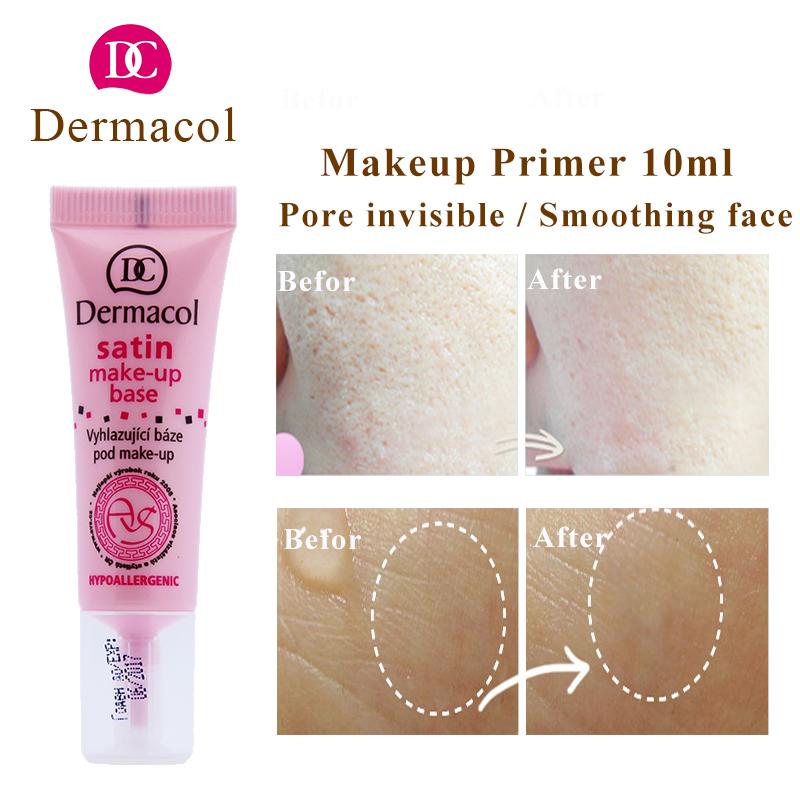 Dermacol base 10ml Satin make up base primer for dermacol makeup base Professional Pore Primer foundation Face primer makeup(China (Mainland))