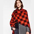 ZA British black and white plaid shawl Scarf Desigual Plaid Scarf New Designer Unisex Acrylic