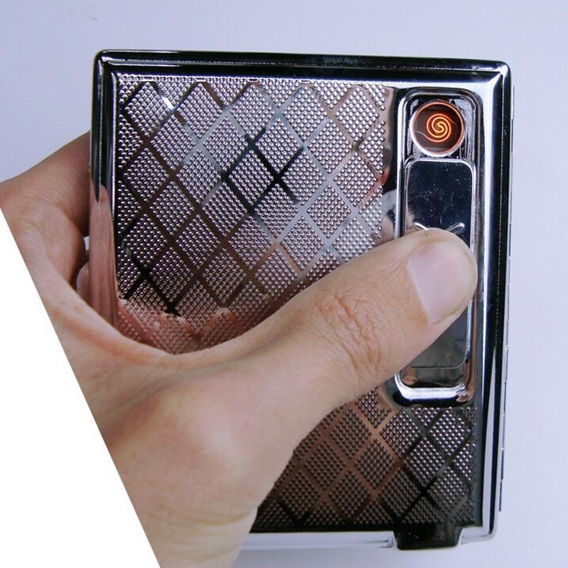 ถูก บุหรี่กรณีผู้ถือW/Built-In USB Flamelessอิเล็กทรอนิกส์แบบชาร์จเบา