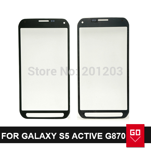 Outer Screen Lens for G870 Replacement Front Screen Glass Outer Lens for Samsung galaxy S5 active G870 Grey color(China (Mainland))