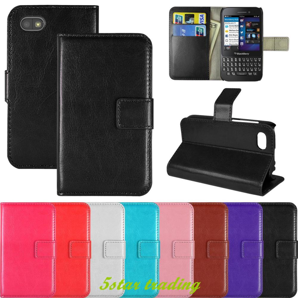 Book Flip PU Leather Wallet Case Cover phone cases Stand Pouch For Blackberry Q5(China (Mainland))