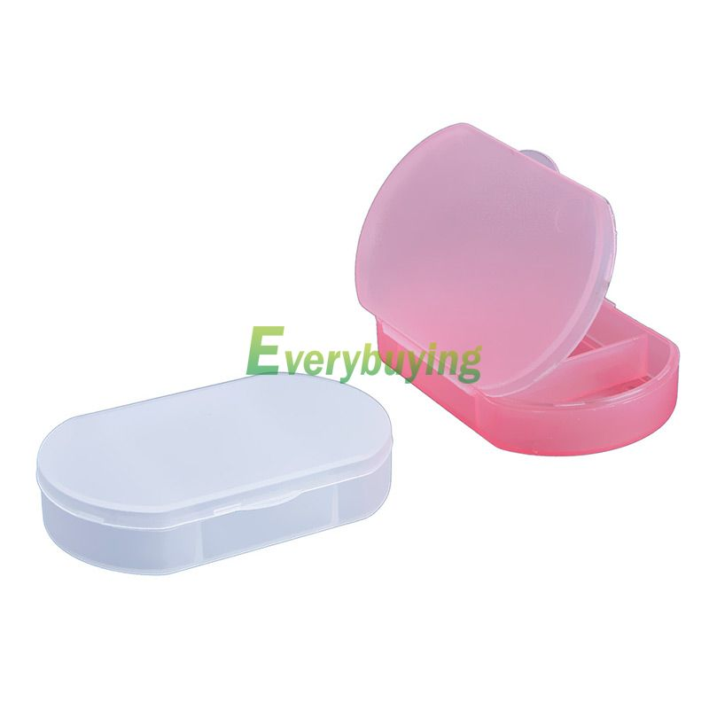 2pcs Portable Red Mini 3-Slot Medicine Case Medical Pill Drug Box Fit Camping HSLN #66994(China (Mainland))