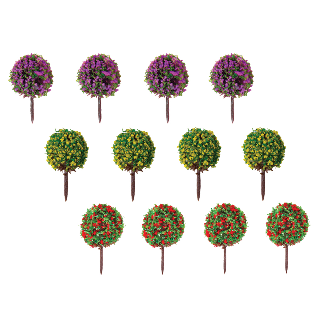 30pcs Mixed 3 colors Flower Model Train Trees Ball Shaped Scenery Landscape 1/100 Scale Model Building Kits Toys Supplies(China (Mainland))