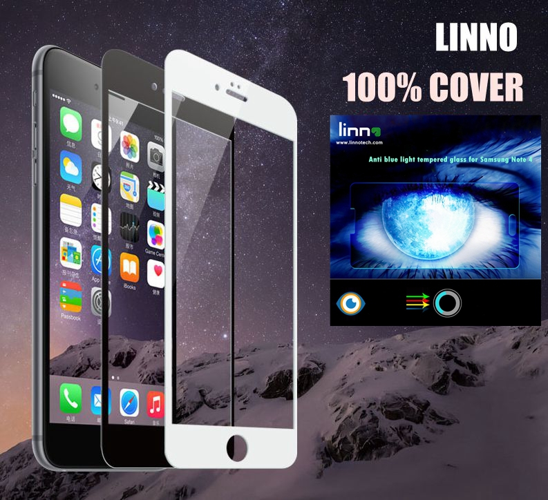 For iphone 6/6s Full screen cover Eyes Care Anti-UV ray,Anti blue light LINNO Tempered Glass Screen Protector Apple Iphone 6(China (Mainland))