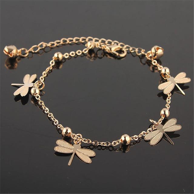 Новые поступления стрекоза лодыжке браслет на ноге для женщин золотую цепочку ножные ...