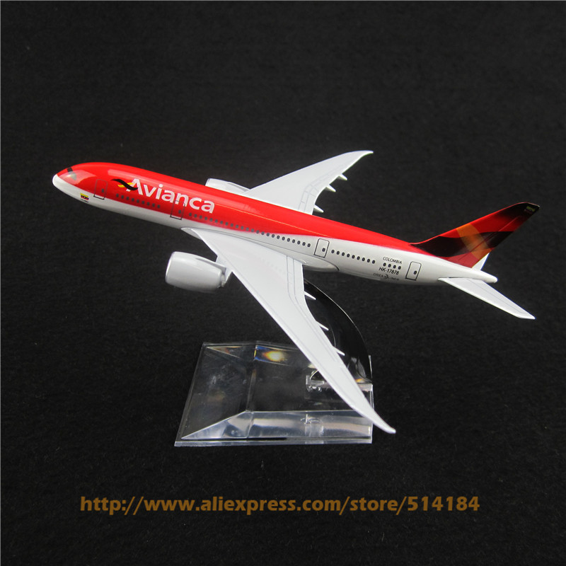 15cm Alloy Metal Air Colombia Avianca Model Boeing 787 B787 Airlines Airways Plane Model Development Aircraft Airplane Toy(China (Mainland))