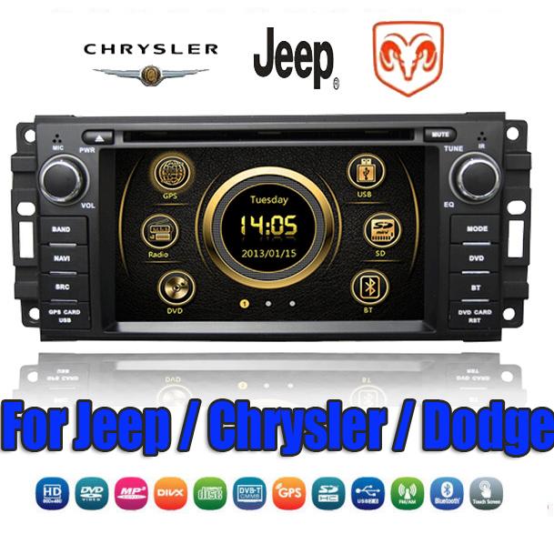 2din Car DVD Player GPS Navigation Head Unit For Chrysler Aapen Sebring 300C Jeep Commander Compass Wrangler steering control(China (Mainland))