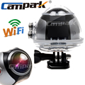 Campark 4K Ultra HD Wifi Mini Panoramic Action Camera 2448 2448 Panorama Camera 360 Degree Sport