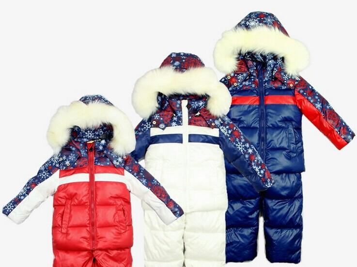 New 2014 Children's Winter Clothing Set Boy Girl baby kids Ski Suit Windproof  Warm Coats Fur Jackets+Bib Pants child ski set(China (Mainland))