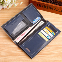 2015 Famous brand men wallet male genuine leather patchwork fashion purse carteira masculina with car holder