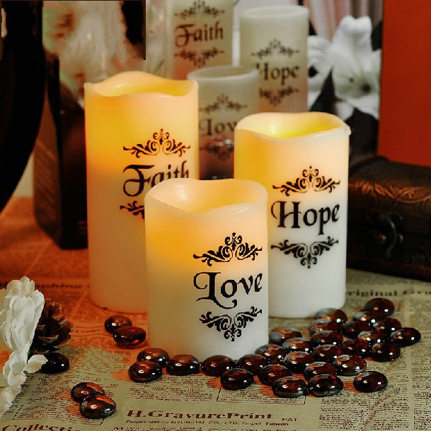 1 SET 3PCS Love LED Candle Romantic Flameless Blow LED Candle Tea Light LED Candle Including plate&stones(China (Mainland))