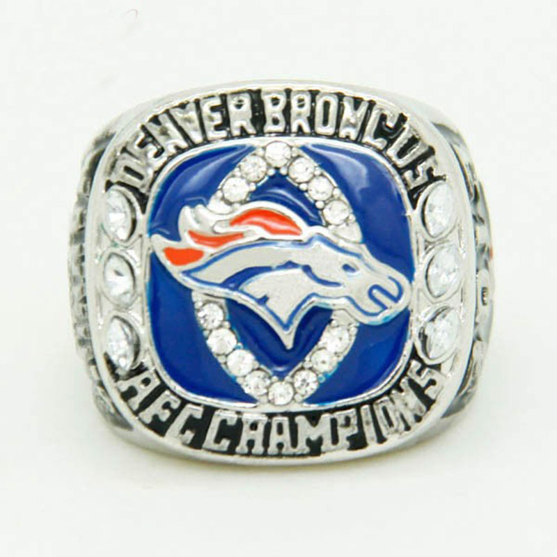 Factory Wholesale Price for replica super bowl 2013 Denver Broncos American Football Championship Ring For Men sport jewelry(China (Mainland))