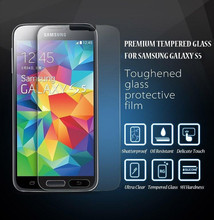 No Bubble Fingerprint Spare Parts Mobile Phone Tempered Glass for Samsung s5