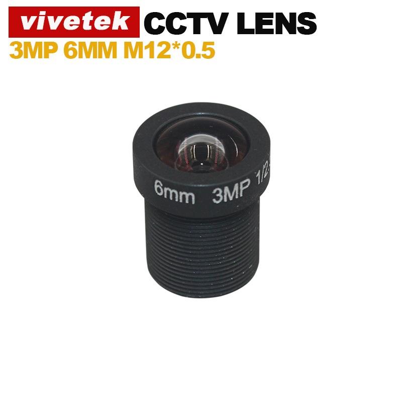 VIVETEK 6MM 3Mega Pixel CCTV Lens IR Metal CCTV Lens F1.8 M12(China (Mainland))