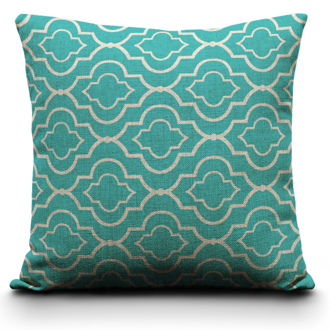 Decorative Linen Pillow Covers : Aliexpress.com : Buy Geometric Pillow Covers. Cushion Covers. Turquoise cushion covers for sofa ...