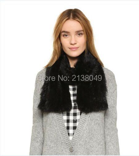 Fs002 150 * 15 см новое поступление женщины зиму шарф настоящее кролика вязаный шарф
