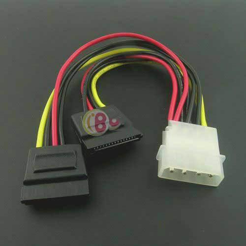 BuyTium Shop IDE to 2 x Serial ATA SATA HDD Power Adapter Cable Splitter(China (Mainland))