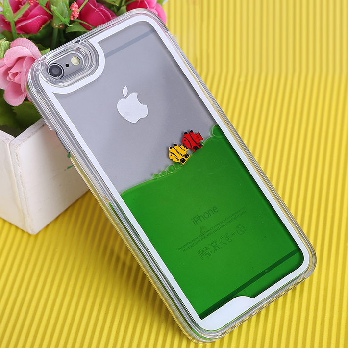 Slim Transparent Clear Case For iphone5 5S 4 4s Sea World Cellphone Hard Back Cover For Apple iPhone5 5S With Liquid Fish Moving(China (Mainland))