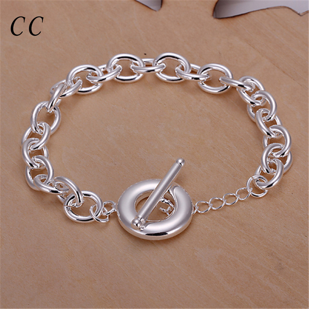 Thick simple link chain for women T O letter bracelets femme copper metal fashion jewelry accessories party daily CCNE0647(China (Mainland))
