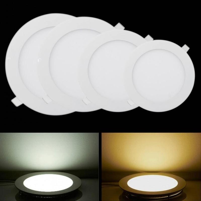 Ultra Thin Led Panel Light AC 220V Surface Mounted Led Panel Down Light Lamp 3w 4w 6w 9w12w 12w 15w 18w Round Ceiling Downlights(China (Mainland))