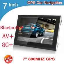 7 » автомобилей GPS навигация Bluetooth / AV FM / 8 г / 256 м CE6.0 навигатор HD 800 * 400 карта для россия / беларусь / европа / сша + канада