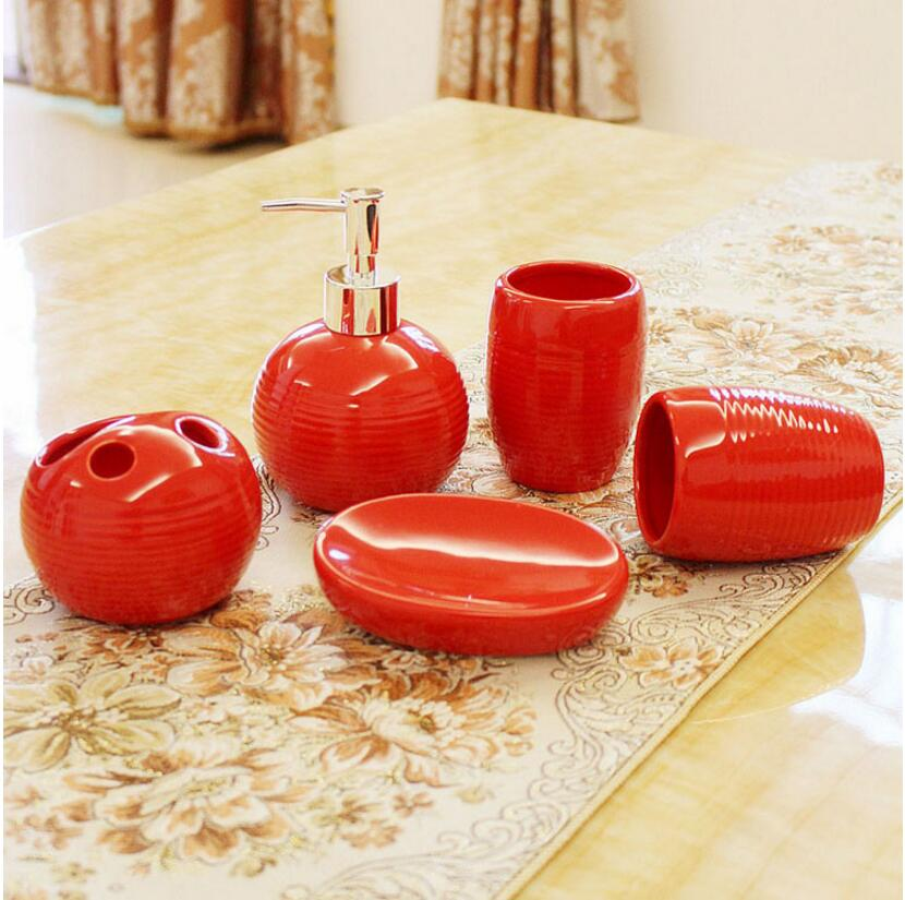 Popular black and red bathroom accessories buy cheap black for Red and black bathroom accessories sets