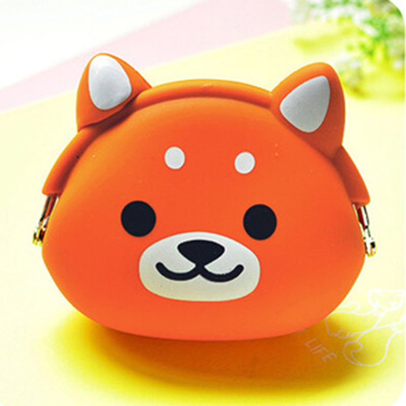 Lovely Women Kids Girls Cute Cartoon Silicone Coin Purse Storage Bags Wallet Bag 2684
