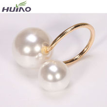 Newest Summer Wedding Pearl Gold Ring For Women Trendy Big Pearl Rings Womens Free Shipping