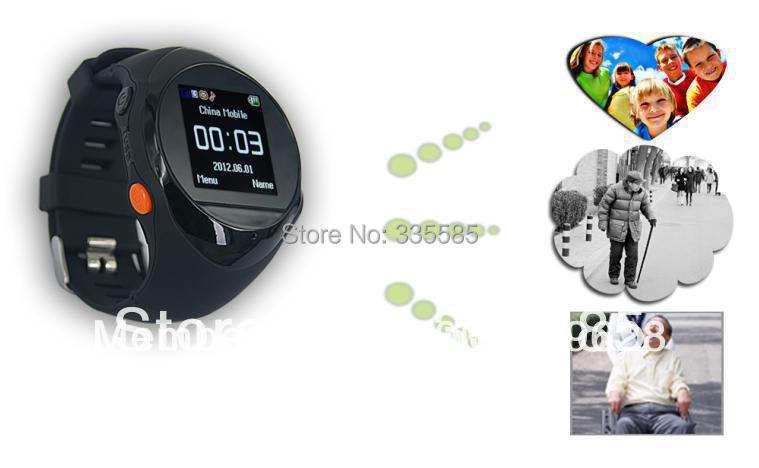 Free shipping Wholesale Smart Tracking Watch Spy equipment For Child Elderly Outdoor tracking With Phone call function SOS(China (Mainland))