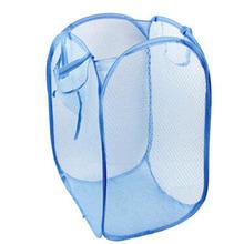 Foldable Pop Up Washing Clothes Laundry Basket Bag Hamper Mesh Storage Folding laundry basket Nylon mesh 50.5*32*26.5cm(China (Mainland))