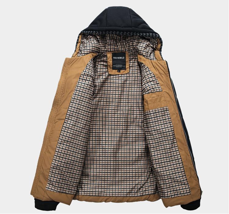 2014 Fashion Winter Jacket Men Thermal Cotton padded Overcoat Casual Men s Hooded Winter Coat Men