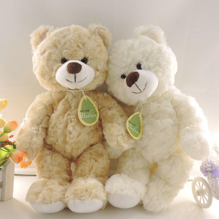 Kawaii korean stuffed kids toys small teddy bear plush dolls 30cm random necklace neckties new year chirstmas birthday gift(China (Mainland))