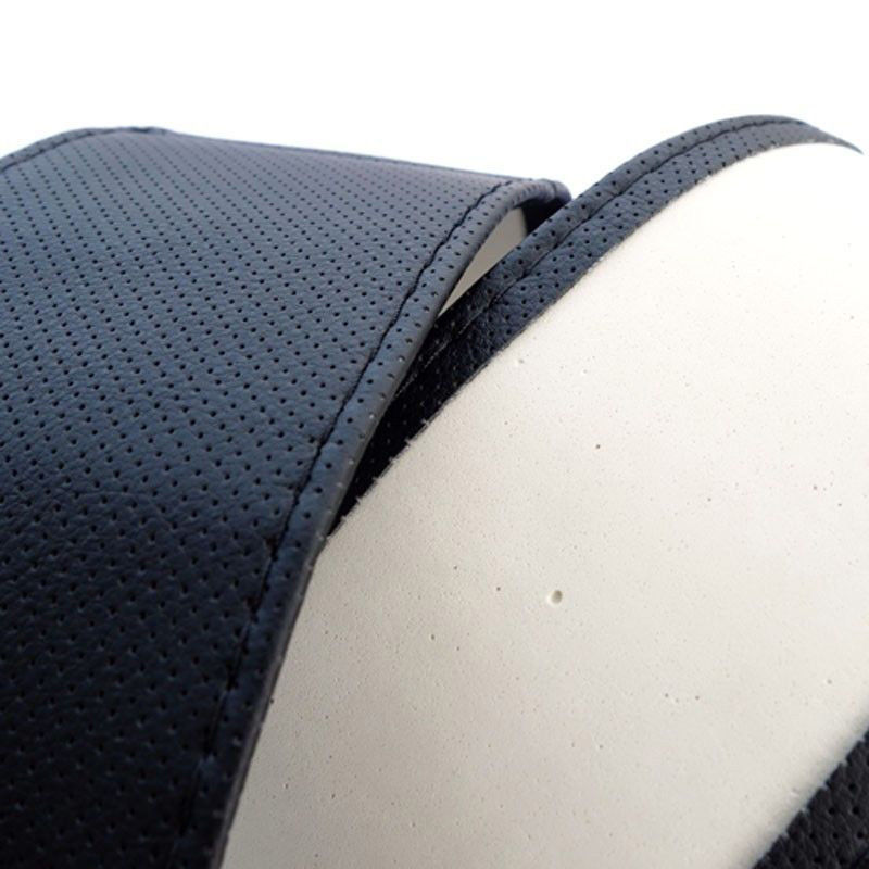 Hot Truck Leather Steering Wheel Car Cover With Needles and Thread Black