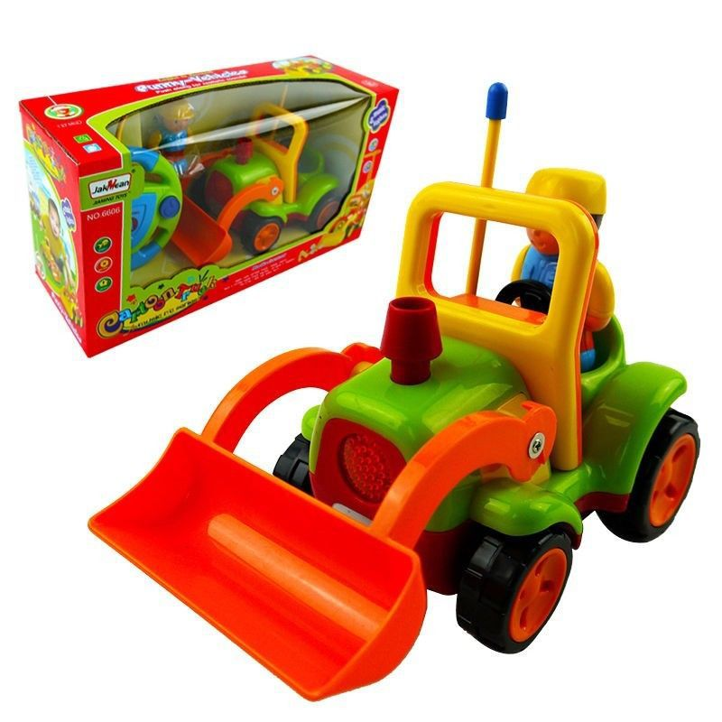 RC CONSTRUCTION EXCAVATOR TRUCK RADIO REMOTE CONTROL CAR KID BABY MUSIC LED TOY BABY TOY(China (Mainland))