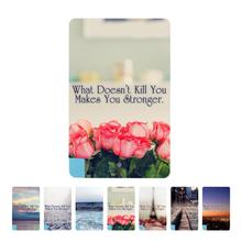 """Card 2600mAh Charger External Battery power bank For iphone/smart phone with """"what doesn't kill you"""" series"""