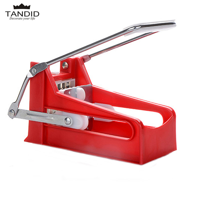 Stainless Steel French fries Cutter Potato Chipper Vegetable Fruit Slicer 2 Blades Vegetable Slicer Kitchen Tool(China (Mainland))