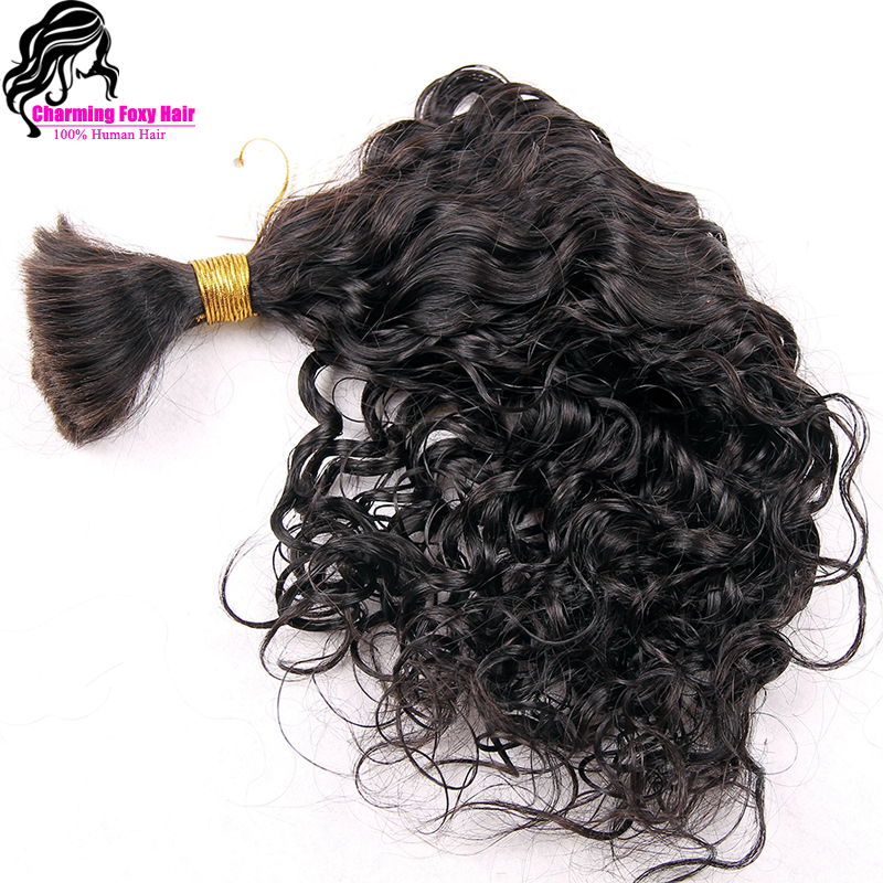 Top Quality Virgin Brazilian Curly Bulk Hair For Braiding