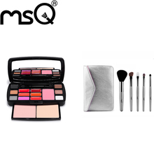MSQ Brand Professional Excellent Travel Suit Lipstick Blush Makeup Kits Cosmetics With Makup Brushes Set  For Beauty