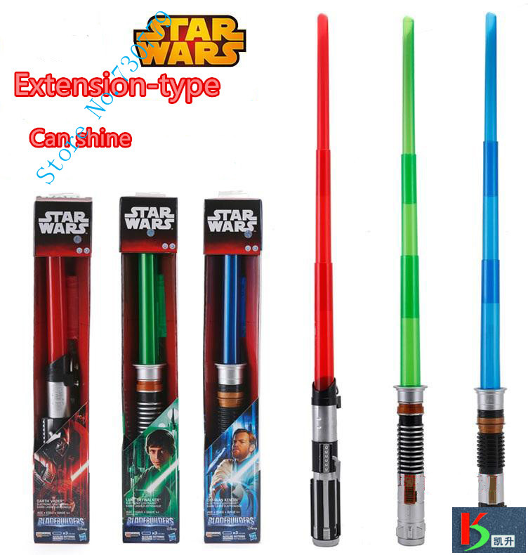 Foldable Star Wars laser sword with Sound and Light Red Green Blue Saber laser Telescopic Sword Toys Gifts kids Adult Game(China (Mainland))